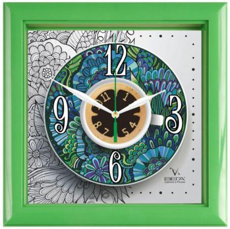 Часы настенные Вега П3-3-122 зелёный разноцветный часы настенные вега пейзаж п4 3 7 82 зелёный