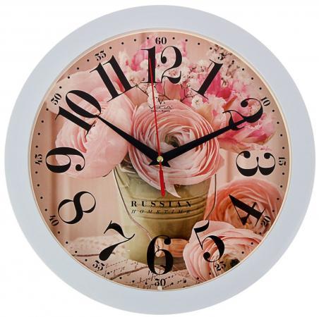 Часы Вега П1-7/7-274 Нежные розы белый рисунок часы настенные вега п1 7 7 5 белый рисунок
