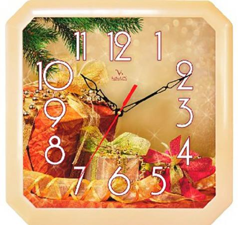Часы Вега П4-14/7-86 Новогодние подарки разноцветный часы настенные вега пейзаж п4 3 7 82 зелёный