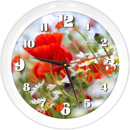 Часы настенные Вега Маки П1-7/7-187 белый часы настенные вега п1 7 7 5 белый рисунок
