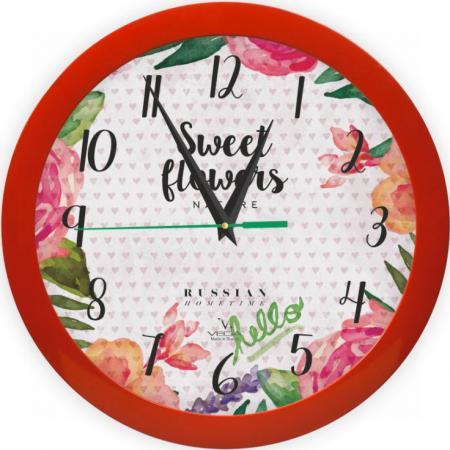 Часы Вега П 1-1/7-298 Цветы и сердца разноцветный вега вега п 1 1 7 289