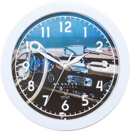 Часы настенные Вега П1-7/7-296 Белый руль белый
