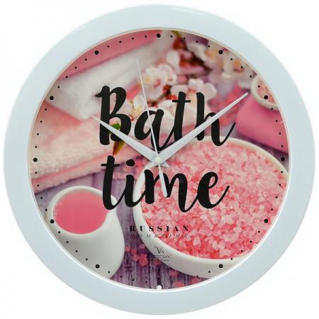 Часы настенные Вега Розовая соль П1-7-7-295 разноцветный рисунок цена