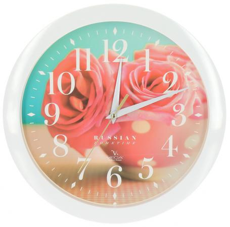Часы Вега П 1-7/7-252 разноцветный tfs cotton linen leaning cushion covers square 17 7 17 7 throw pillow case colored fish