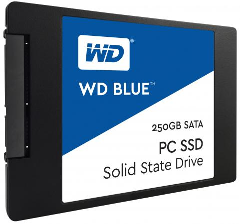 Твердотельный накопитель SSD 2.5 250Gb Western Digital Blue Read 540Mb/s Write 500Mb/s SATAIII WDS250G1B0A philips brl130 satinshave advanced wet and dry electric shaver
