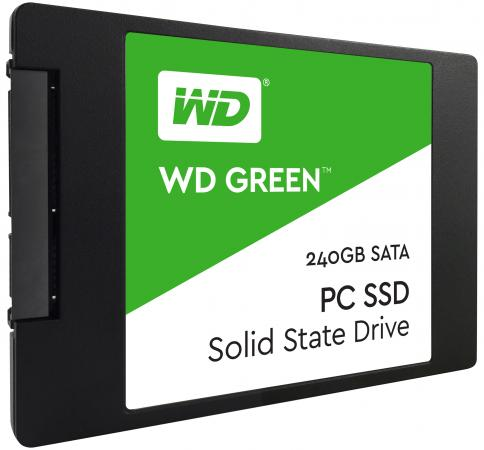 Твердотельный накопитель SSD 2.5 240Gb Western Digital Green Read 540Mb/s Write 430Mb/s SATAIII WDS240G1G0A жесткий диск пк western digital wd40ezrz 4tb wd40ezrz
