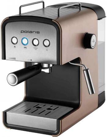 Кофеварка Polaris PCM 1526E Adore Crema 850 Вт медный кофеварка капельного типа polaris pcm 1211 black green