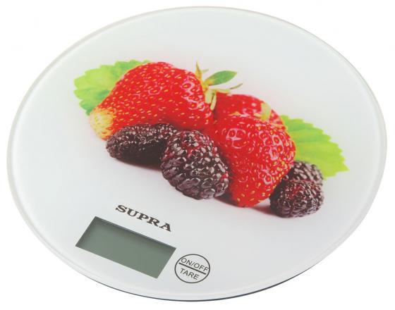 Весы кухонные Supra BSS-4601 белый рисунок 10956 весы supra bss 2003 до 180кг цвет белый рисунок [10899]