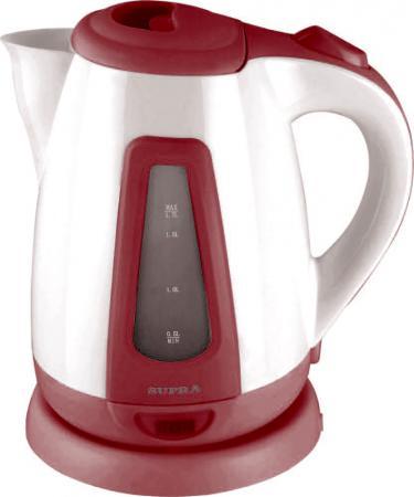 Чайник Supra KES-1704 2000 Вт белый бордовый 1.7 л пластик supra kes 2301 grey