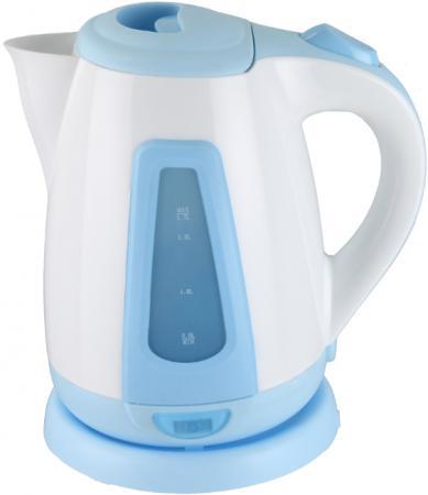 Чайник Supra KES-1704 2200 Вт белый голубой 1.7 л пластик