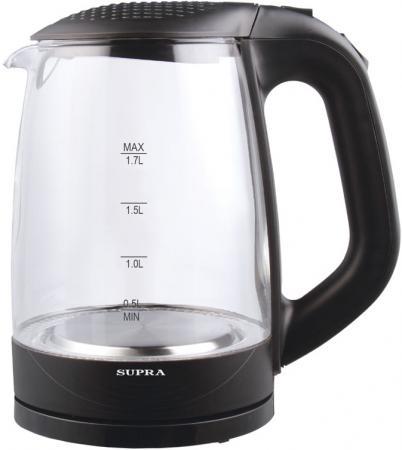 Чайник Supra KES-2008 2200 Вт чёрный 1.7 л стекло электрический чайник supra kes 2008 kes 2008