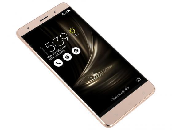 Смартфон ASUS ZenFone 3 Deluxe ZS570KL золотистый 5.7 64 Гб NFC LTE Wi-Fi GPS 3G 90AZ0161-M00110 смартфон asus zenfone zf3 laser zc551kl золотистый 5 5 32 гб wi fi lte gps 3g 90az01b2 m00050