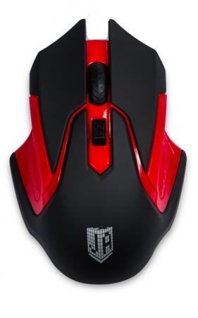 Мышь беспроводная Jet.A OM-U57G красный чёрный USB
