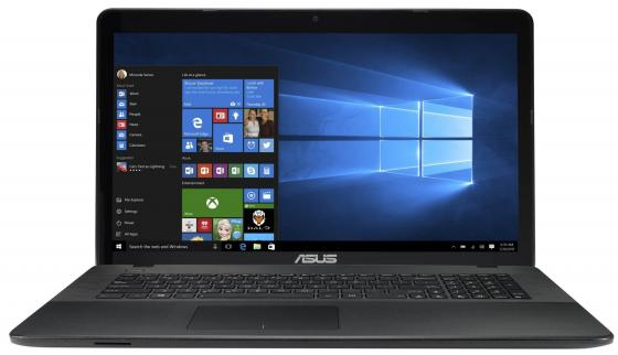 Ноутбук ASUS X751LX-T4161T 17.3 1920x1080 Intel Core i5-5200U 1 Tb 4Gb nVidia GeForce GTX 950M 2048 Мб черный Windows 10 Home 90NB08E1-M02580 ноутбук lenovo deapad 310 15 6 1920x1080 intel core i3 6100u 500gb 4gb nvidia geforce gt 920mx 2048 мб серебристый windows 10 80sm00vqrk