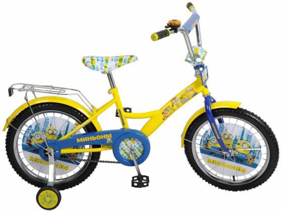 Велосипед двухколёсный Navigator Миньоны 18 желтый ВН18074 велосипед двухколёсный navigator миньоны 18 желтый вн18074