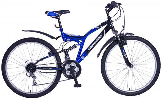 Велосипед двухколёсный Top Gear Nova 120 26 черно-синий 18 скоростей велосипед двухколёсный top gear delta 50 вн26247 26 черно синий