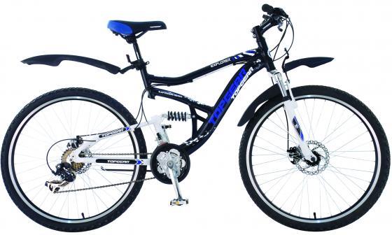 Велосипед двухколёсный Top Gear Explorer 425AL 26 черно-белый велосипед двухколёсный top gear delta 50 вн26247 26 черно синий