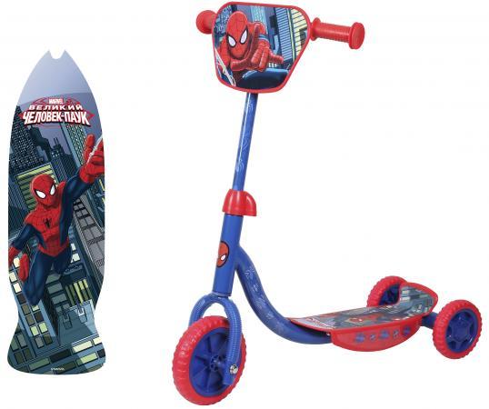 Самокат трехколёсный 1TOY Marvel Spider-Man 6/4 синий самокат 3 х колесный 1toy marvel spider man т58417