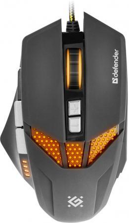 Мышь проводная DEFENDER Warhead GM-1780 чёрный USB 52780 defender warhead gm 1750 black usb