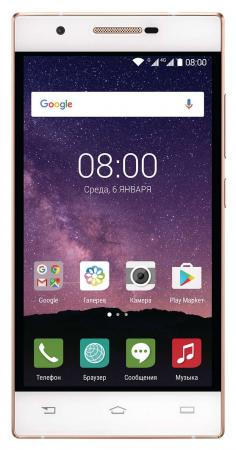 Смартфон Philips Xenium X586 белый шампань 5 16 Гб LTE Wi-Fi GPS 3G смартфон philips xenium x588 32gb черный