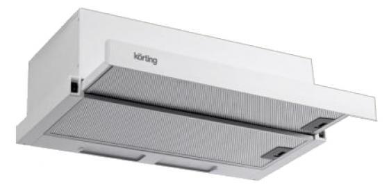 Вытяжка встраиваемая Korting KHP 5211 GW белый вытяжка korting khp 5211 w