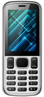 Мобильный телефон Vertex D510 серебристый черный 2.4 мобильный телефон vertex d503 черный 2 4
