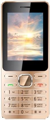 Мобильный телефон Vertex D508 золотистый 2.4 D508GMET мобильный телефон vertex d513