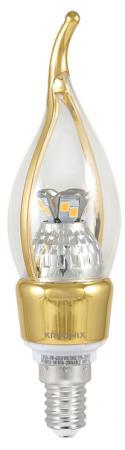Лампа светодиодная E14 5W 3000K свеча на ветру прозрачная CRL-CA35-5W-E14-CL/WW-GOLD 8307 светодиодная лампа oem corn lamps ac220v 3w 5w 7w 12w 15w 18w 20w 25 e14 5730 24 36 48 56 69 72leds