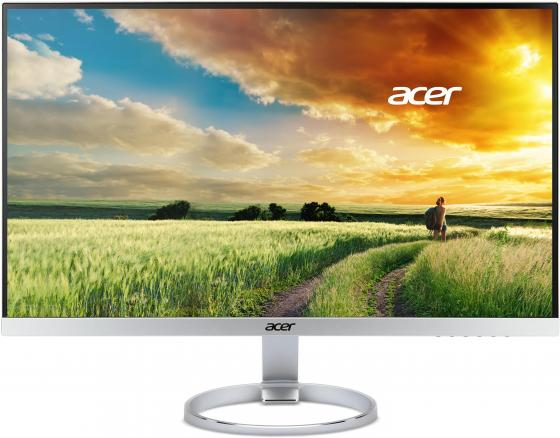 Монитор 27 Acer H277Hsmidx серебристый черный IPS 1920x1080 250 cd/m^2 4 ms DVI HDMI DisplayPort Аудио монитор жк acer v226hqlabmd 21 5 черный [um wv6ee a09]