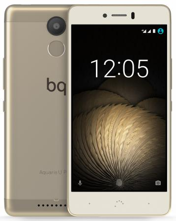 Смартфон BQ Aquaris U Plus золотистый 5 16 Гб LTE Wi-Fi GPS 3G C000235 смартфон archos sense 50 dc золотистый 5 16 гб lte wi fi gps 3g 503525