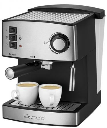 Кофемашина Clatronic ES 3643 850 Вт серебристый/черный кофеварка clatronic ka 3555 870 вт белый