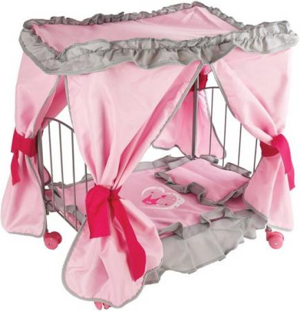 Кроватка для кукол Mary Poppins с балдахином Корона 67215 посуда кухонная