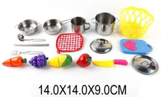 Набор для резки Shantou Gepai Набор мет.посуды с продуктами для резки набор для творчества shantou gepai рукодельница сова k04
