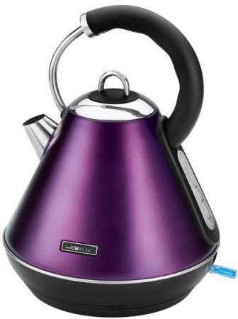 Чайник Clatronic WKS 3625 2200 Вт фиолетовый 1.8 л металл чайник clatronic wks 3576 2200 вт чёрный серебристый 1 5 л металл пластик