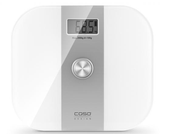 Весы напольные CASO Body Energy 3415 белый серебристый весы напольные caso body fit серебристый 3410