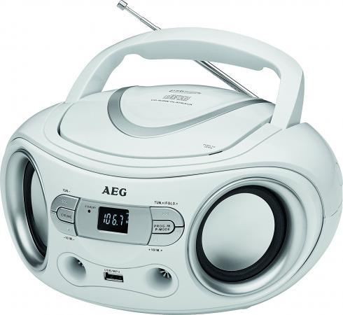 Магнитола AEG SR 4374 weiss магнитола aeg sr 4372 белый