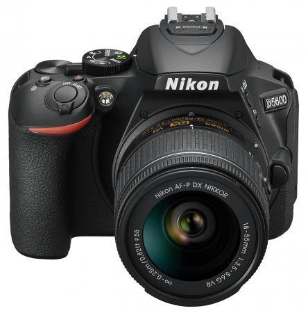Зеркальная фотокамера Nikon D5600 KIT 18-55mm 24.1Mp черный VBA500K001 цифровая фотокамера nikon d5600 kit 18 55 af p dx g vr vba500k001