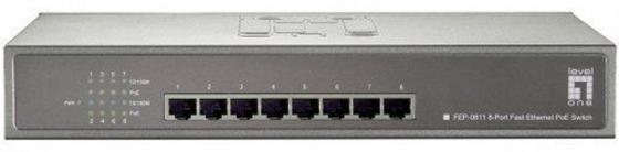 Коммутатор LevelOne FEP-0811 неуправляемый 8 портов 10/100Mbps адаптер poe levelone por 1102