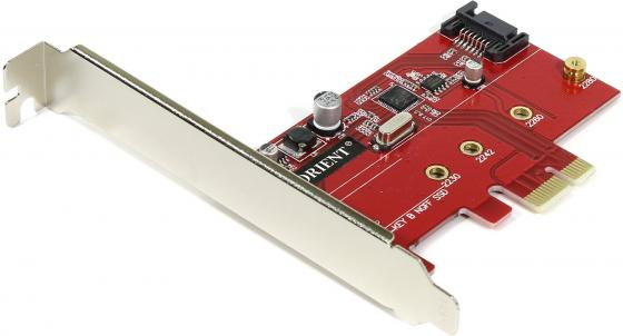 Контроллер PCI-E Orient A1061S-M2 SATA 3.0 2int 30289 pci e to