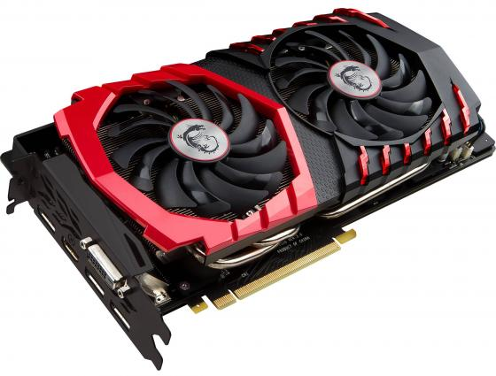 Видеокарта 8192Mb MSI GeForce GTX 1080 GAMING 8G PCI-E 256bit GDDR5X DVI HDMI DP HDCP Retail
