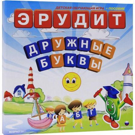 Настольная игра развивающая Биплант Эрудит Дружные буквы 10006 настольная игра развивающая биплант сыроешки 10041