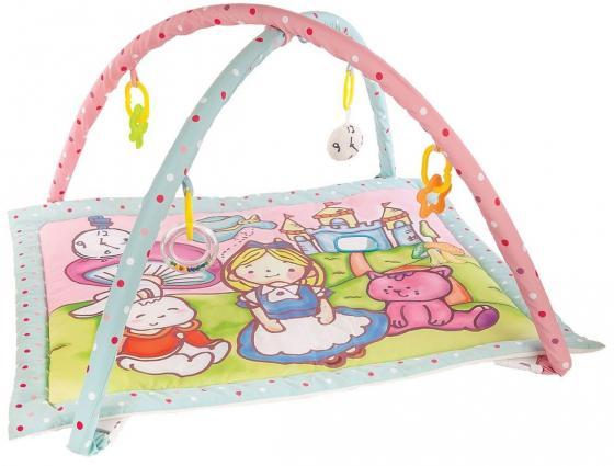 Купить Коврик Жирафики развивающий Алиса и волшебный замок с 4-мя развивающими игрушками, с шуршалкой и зеркальцем 939352, Развивающие коврики