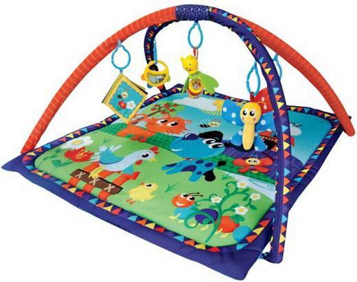 Коврик Жирафики развивающий «Домашние животные», 5 развивающих игрушек, с книжкой-шуршалкой 939313 развивающие коврики жирафики домашние животные