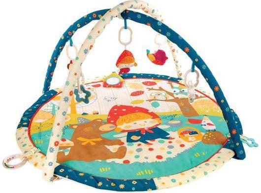 Купить Коврик Жирафики развивающий Машенька и медведь с 8-ю развивающими игрушками 939355, Развивающие коврики