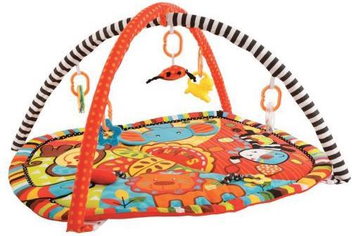 Купить Коврик Жирафики развивающий Ушастики с 6-ю развивающими игрушками, шуршалкой и пищалкой 939353, Развивающие коврики