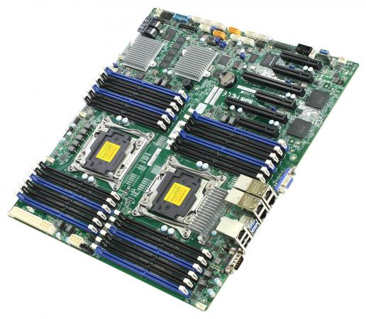 Материнская плата Supermicro MBD-X10DRI-LN4+-B 2 х Socket 2011-3 C612 24xDDR4 2xPCI-E 16x 1xPCI-E 4x 3xPCI-E 8x 10xSATAIII EATX
