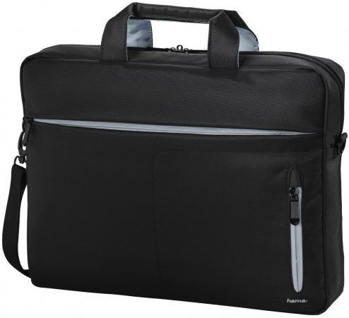 Сумка для ноутбука 15.6 HAMA Marseille Style полиэстер черный серый 00101281 сумка для ноутбука 13 3 hama florence полиэстер черный серый 00101567