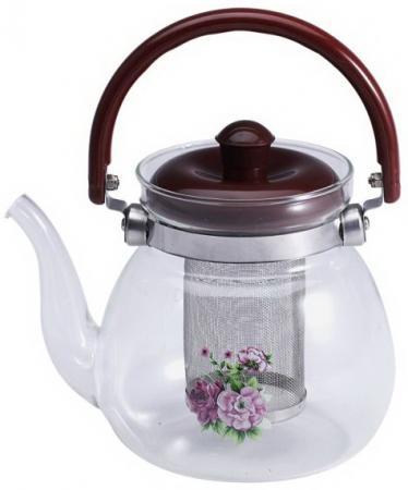 Чайник заварочный Wellberg WB-6852 бордовый 1.1 л стекло чайник wellberg wb 3431 f