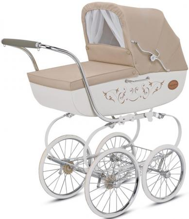 Коляска для новорожденного Inglesina Classica на шасси Balestrino Chrome/Ivory (AB05E0VNL + AE05H3100)