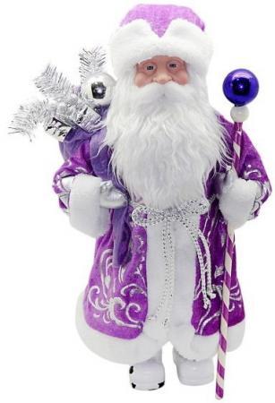 Кукла Новогодняя сказка Дед Мороз 43 см под елку, фиолетовый 972434 кукла под елку новогодняя сказка снеговик 973030